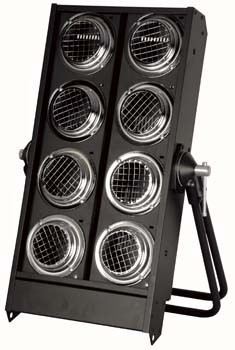 Stage Blinder 8 DMX - 8 x 650W, sort