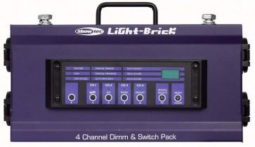 Lightbrick 4 - 4 kanals DMX dæmper 4x1000W Schuko