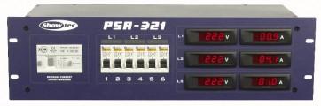 """PSA-321 400V/32A 19"""" distribution Amp- & Voltmeter"""