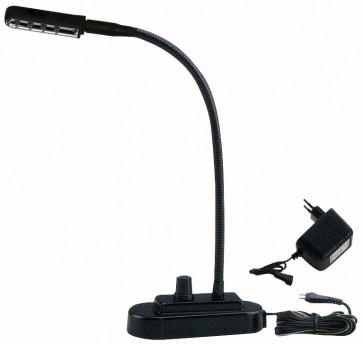 Showtec LED svanehalslampe med dimmer - hvid