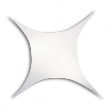 Strækdug firkantet 250x500cm hvid brandhæmmet