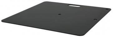 Afskærmning bundplade 350x300mm sort