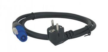 Powerkabel m. Powercon/schuko - 6 mtr. 3x2,5mm