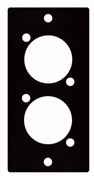 "2 stk. XLR ""D"" panel - 1 segment"