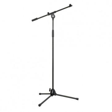 Mikrofonstativ 98-160 cm m. bom-arm - sort