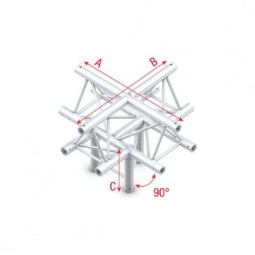 """DT22 deco bro trekantet - 4 vejs kryds+ned - """"op"""""""
