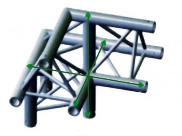 """FT30 bro trekant 30x30cm- 3-vejs 90gr hjørne """"op"""" version 2"""