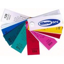 Showtec Farvefilter farveprøver i forskel. farver