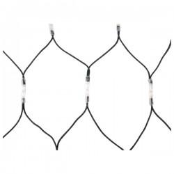 LED lyskæde net varm hvid 1x2m 176 pærer