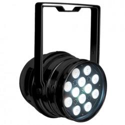 LED Par64 RGBW DMX m. 12x4W LED dioder, sort