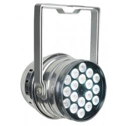 LED Par64 RGBW DMX m. 18x4W LED dioder, blank