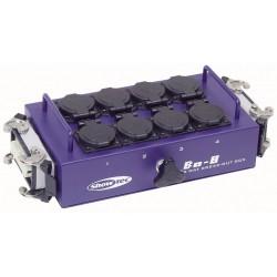 BO-8-S2 Break-out box - 8 Schuko/2x16 pol Harting