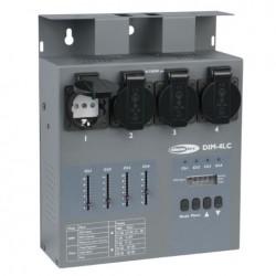 DIM-4LC - 4 kanals DMX dæmper 4x3A Schuko m fadere