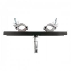 Bro-holder m.clamps og spigot - justerbart 20-40cm