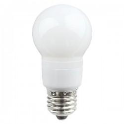 LED pære 3W rød/hvidt glas , 60mm.