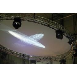 Hvid dug til cirkel rig med diameter på 4m