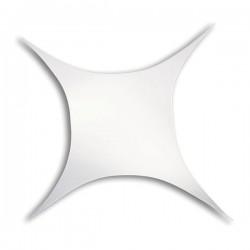 Strækdug firkantet 250x375cm hvid brandhæmmet