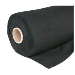 Deko Flannel stof rulle 1,3x60m 160g/m2 sort