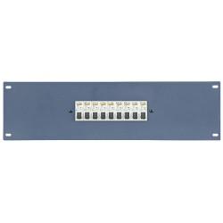 """19"""" panel med 9 stk. 16Ah automatsikringer"""