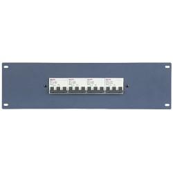 """19"""" panel med 4 stk. 3-faset 32Ah automatsikringer"""