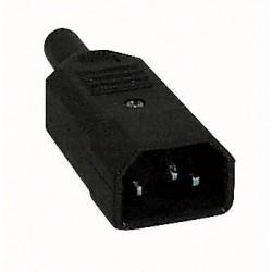 IEC/apparat stik han til kabel