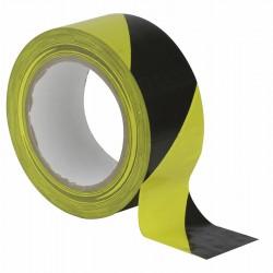 Sort/gul markeringstape på 50mm/33m.