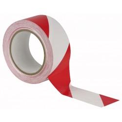Rød/hvid markeringstape på 50mm/33m.
