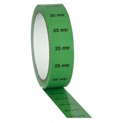 """Grøn PVC tape på 25mm/33m - markeret med """"25M"""""""