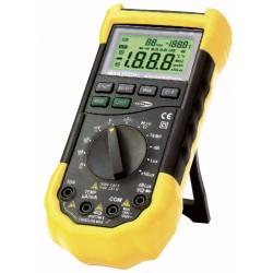 5 i en Multimeter: dB, AC/DC, termo- og luxmeter