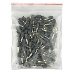 Showtec terminal 2,5mm2 - 8mm grå, 1000 stk.