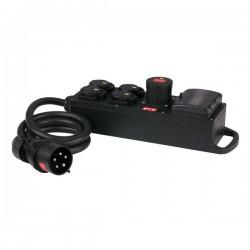 MPD-416 16Amp 400V -> 4 stk 230V split IP54sikring