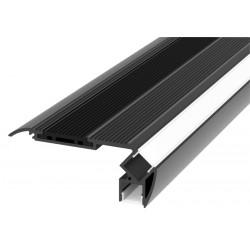 Trappeprofil til 2 LED bånd sort aluminium