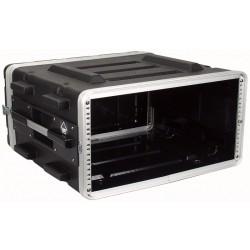 """19"""" PVC rack-kasse 4U - 2 låg"""
