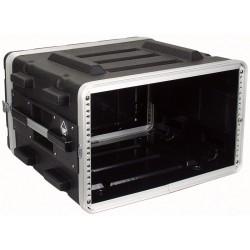 """19"""" PVC rack-kasse 6U - 2 låg"""