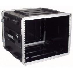 """19"""" PVC rack-kasse 8U - 2 låg"""