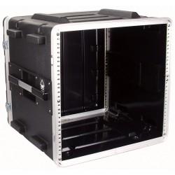 """19"""" PVC rack-kasse 10U - 2 låg"""
