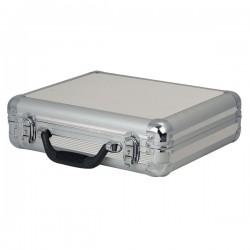 Kuffert til 7 mikrofoner - sølv