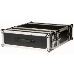 "Flightcase 19"" 3U - til double CD' er - sort"