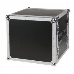 "19"" Flightcase-rack, 10U høj, 2 låg"