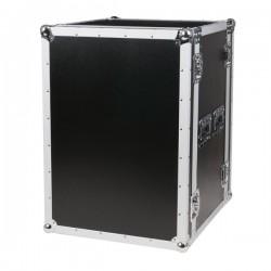 "19"" Flightcase-rack, 16U høj, 2 låg"