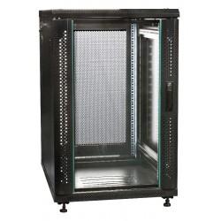 """19"""" Server-rack i 18U med glas i frontdør"""