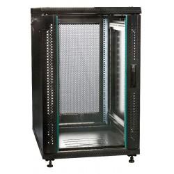 """19"""" Server-rack i 22U med glas i frontdør"""