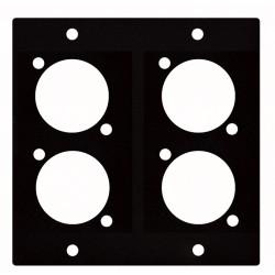 """4 stk. XLR """"D"""" panel - 2 segmenter"""
