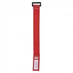 Kabelstrop m. velkro 22,5cm/2,5cm røde - 10 stk.