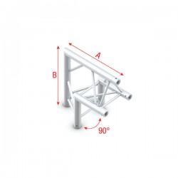 """DT22 deco bro trekantet - hjørne 90 grader """"op"""""""
