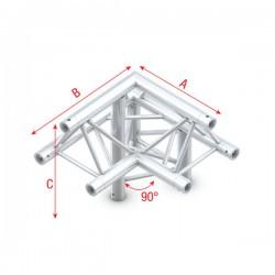 """DT22 deco bro trekantet 3-vejs hjørne 90gr.""""op"""" V1"""
