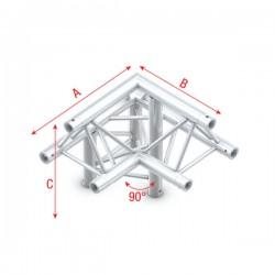 """DT22 deco bro trekantet 3-vejs hjørne 90gr.""""op"""" V2"""