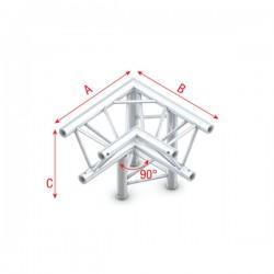 """DT22 deco bro trekantet 3-vejs hjørne 90gr.""""ned""""V1"""