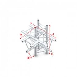 """DT22 deco bro trekantet - """"T"""" kryds + op&ned """"ned"""""""