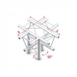 """DT22 deco bro trekantet - 4 vejs kryds+ned - """"ned"""""""